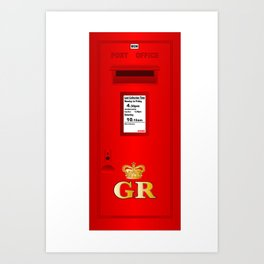 Traditional British  Georges Reign Postbox Art Print