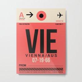 VIE Vienna Luggage Tag 1 Metal Print
