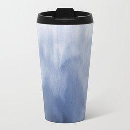 Blue Watercolor Blur Travel Mug