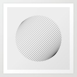 #571 line(trigonometric) Art Print