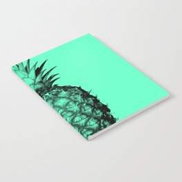 Pineapple! Black on mint green Notebook