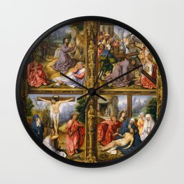 Four Scenes from the Passion Wall Clock