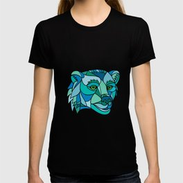 Grizzly Bear Head Mosaic T-shirt