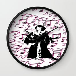 Foot Tapping Music. Wall Clock