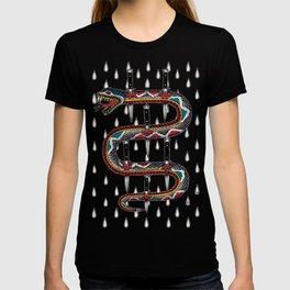 Snake knife tattoo T-shirt