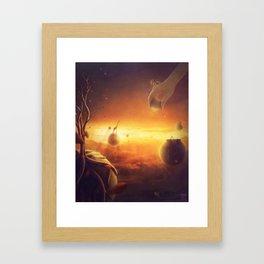 The golden heavens Framed Art Print