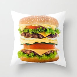 Cheeseburger YUM Throw Pillow