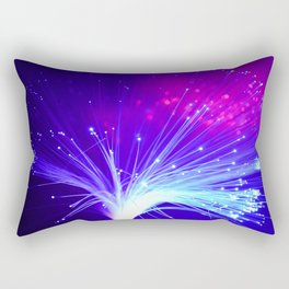 Colorful Glowing Blue and Purple Lights. Rectangular Pillow