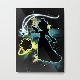 Super Smash Bros. Rosalina Silhouette Metal Print