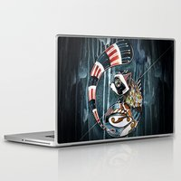 racoon Laptop & iPad Skins featuring Racoon by mr. louis