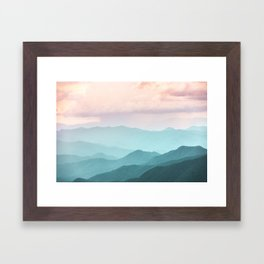 Smoky Mountain National Park Sunset Layers II - Nature Photography Framed Art Print