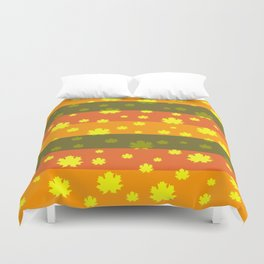 Golden autumn leaves Duvet Cover