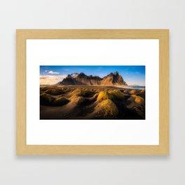 Stokksnes - Iceland   Panorama (RR136) Framed Art Print