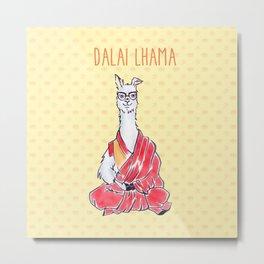 Dalai Lhama Metal Print