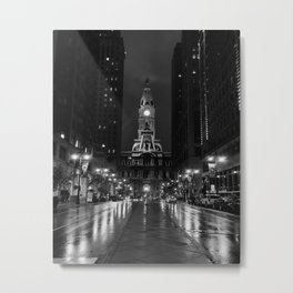 City of Brotherly Love [B+W] Metal Print