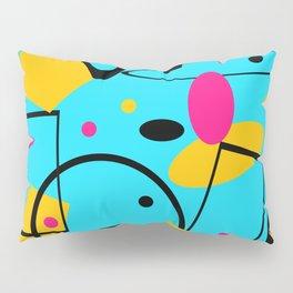 retro abstract blue Pillow Sham