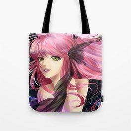 Pink and black fantasy - Anime manga girl with pink hair Tote Bag