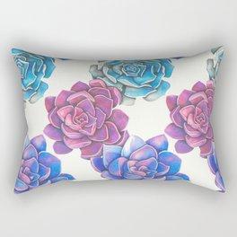 Vibrant Succulents  Rectangular Pillow