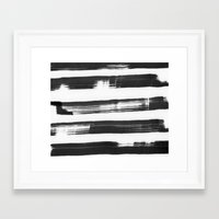 the strokes Framed Art Prints featuring strokes by catherineR