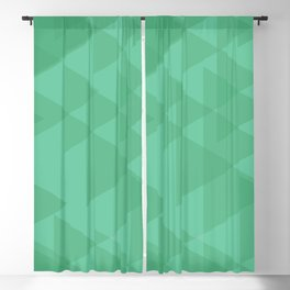 Light lime triangles in intersection and overlay. Blackout Curtain