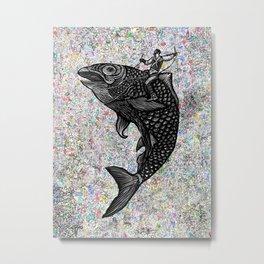 Stop plastic polution today! Metal Print