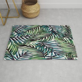 Palm Leaves Abstract Rug