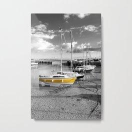 Yellow Sailing Boat Metal Print