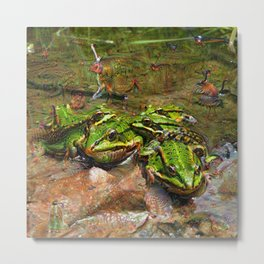 Dream Creatures, Frog, DeepDream Metal Print
