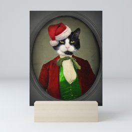 Puccini goes to a Christmas Party Mini Art Print