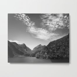 Idyllic view looking like a 'fantasy land' at Doubtful Sound in New Zealand Metal Print