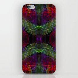 Abstract and symmetrical texture in the form of colorful smoke clouds. iPhone Skin