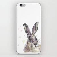 hare iPhone & iPod Skins featuring Hare by Anya Raczka