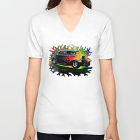ford V-neck T-shirts featuring 32 Ford by JT Digital Art