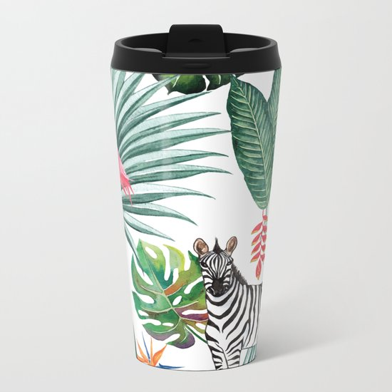 Nature Zebre pattern Metal Travel Mug