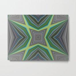 Peacock Transitioning Metal Print