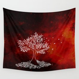 Wind On a Fiery Day Wall Tapestry