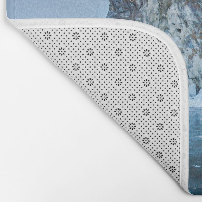 Blue Ice of the Lake Baikal Bath Mat