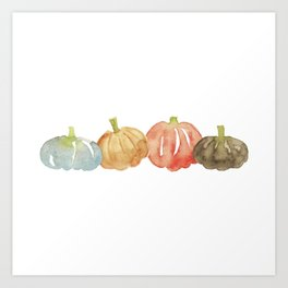 Watercolor Pumpkins Art Print