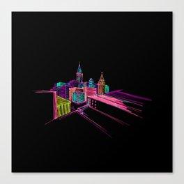 vibrant city art 4 Canvas Print
