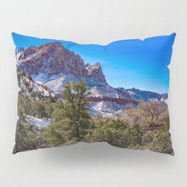 The_Watchman - Winter in Zion_National_Park, UT Pillow Sham