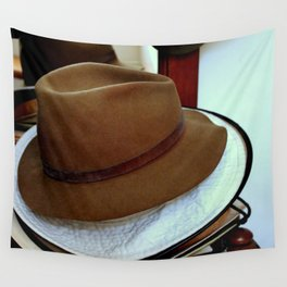 Hat Stacking On The Rack Wall Tapestry