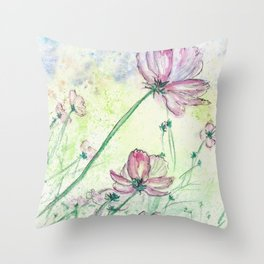 Blossoms and Air Throw Pillow