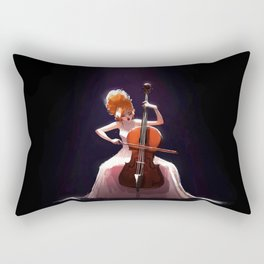 The Cello Player Rectangular Pillow