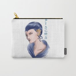 Pisces Sign - Zodiac series by OccultArt Carry-All Pouch