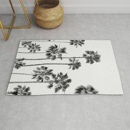 Black & White Palms 3 Rug