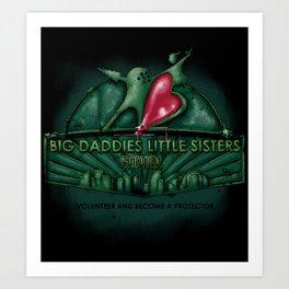 Big Daddies, Little Sisters Art Print