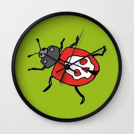 Death's Head Ladybird Wall Clock