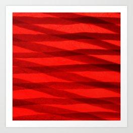 Scarlet Shadows Art Print