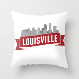 City of Louisville Throw Pillow