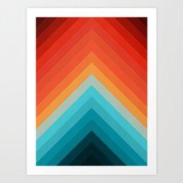 Geometric bands 09 Art Print